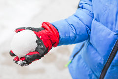Snowball fight Royalty Free Stock Photo