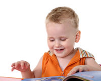 Kid with book Stock Photography