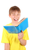 Kid with the Book Royalty Free Stock Photography