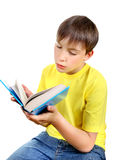 Kid with the Book Stock Images