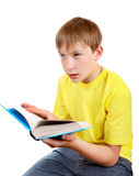 Kid with the Book Royalty Free Stock Photo
