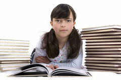 Kid with books Stock Photos