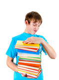 Kid with the Books Royalty Free Stock Images