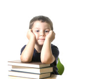 Kid bored royalty free stock photography