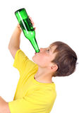 Kid with the Bottle Royalty Free Stock Image