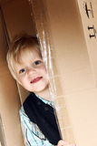 Kid in the box Royalty Free Stock Photos