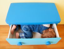 Kid in the box Stock Photo