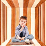 Kid in box Stock Photography