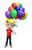 Kid boy with balloon Stock Image