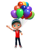 Kid boy with balloon Stock Images