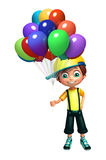Kid boy with balloon Royalty Free Stock Image
