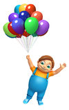 Kid boy with Balloons. 3d rendered illustration of kid boy with  Balloons Stock Photography