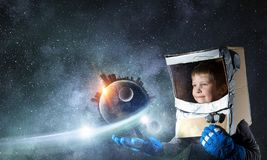 I will explore space . Mixed media stock images