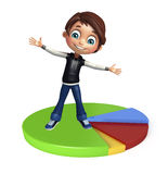 Kid boy with circle Royalty Free Stock Photo