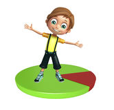 Kid boy with circle Stock Images