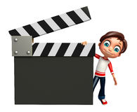 Kid boy with clapper board Stock Image