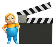 Kid boy with Clapper Board Royalty Free Stock Image