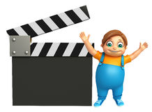 Kid boy with Clapper Board Royalty Free Stock Images