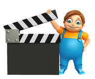 Kid boy with Clapper Board Royalty Free Stock Photography