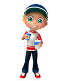 Kid boy with Coke. 3d rendered illustration of kid boy with Coke Stock Photo
