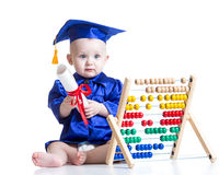 Kid boy with counter toy Stock Photo