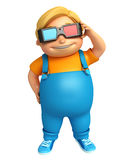 Kid boy with 3D goggle Stock Images