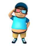 Kid boy with 3D goggle Royalty Free Stock Photos