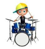 Kid boy with drum Stock Image