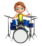 Kid boy with drum Stock Images