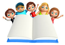 Kid boy and girl with Books Royalty Free Stock Images