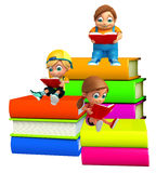 Kid boy and girl with Books Royalty Free Stock Photos