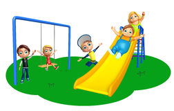 Kid boy and girl with Playing in garden Stock Photos