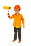 Kid boy holding paint roller Stock Photography