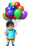 Kid boy with Ice cream & Balloons. 3d rendered illustration of kid boy with Ice cream & Balloons Royalty Free Stock Photography
