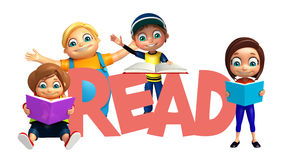 Kid boy and Kid girl with Books Royalty Free Stock Photography