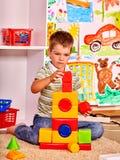 Kid boy in kindergarten Royalty Free Stock Photography