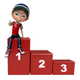 Kid boy with 123 level Stock Photography