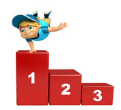 Kid boy with 123 Level. 3d rendered illustration of kid boy with 123 Level Royalty Free Stock Photography