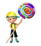 Kid boy with  lollipop Royalty Free Stock Photos