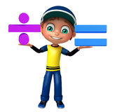 Kid boy with Math sign Stock Images