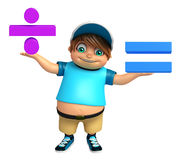Kid boy with Math sign Royalty Free Stock Photography