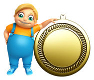 Kid boy with Medal Stock Photography