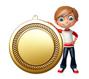 Kid boy with medal Stock Image