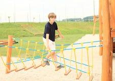 Kid - boy on playground Stock Photography