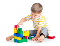 Kid boy playing Stock Images