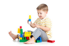 Kid boy playing Royalty Free Stock Image