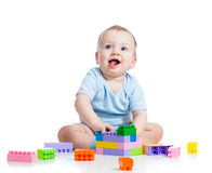 Kid baby boy playing Stock Photography