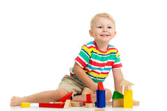 Kid boy playing Royalty Free Stock Images
