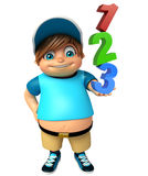 Kid boy with 123 sign Royalty Free Stock Photography