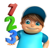 Kid boy with 123 sign Stock Images